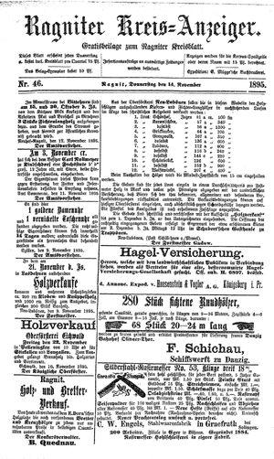 Ragniter Kreis-Anzeiger vom 14.11.1895