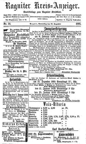 Ragniter Kreis-Anzeiger vom 19.12.1895