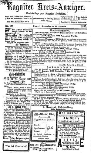 Ragniter Kreis-Anzeiger vom 26.12.1895