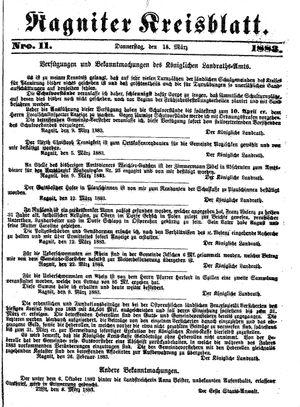 Ragniter Kreisblatt vom 15.03.1883