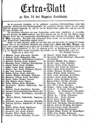 Ragniter Kreisblatt vom 05.04.1883