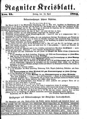 Ragniter Kreisblatt vom 13.04.1883