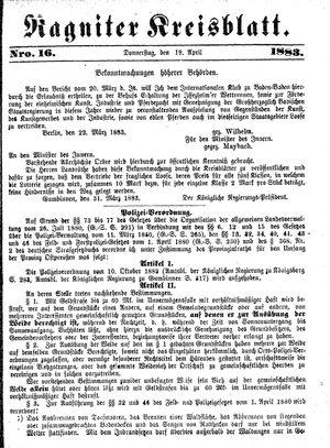 Ragniter Kreisblatt vom 19.04.1883