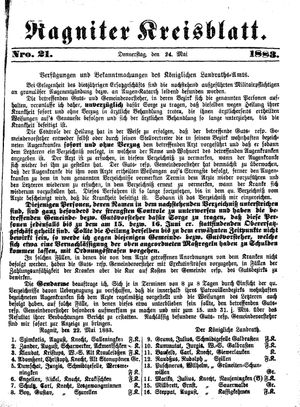 Ragniter Kreisblatt vom 24.05.1883