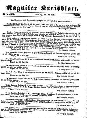 Ragniter Kreisblatt vom 31.05.1883
