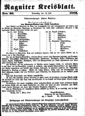 Ragniter Kreisblatt vom 12.07.1883