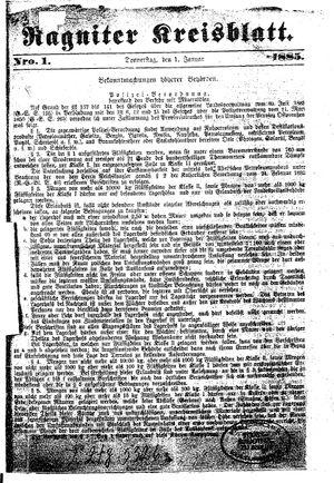 Ragniter Kreisblatt vom 01.01.1885