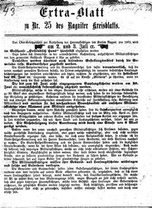 Ragniter Kreisblatt vom 18.06.1885