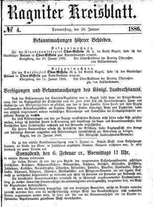 Ragniter Kreisblatt vom 28.01.1886