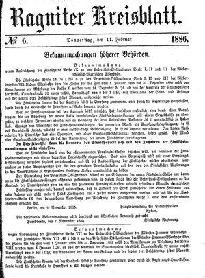 Ragniter Kreisblatt on Feb 11, 1886