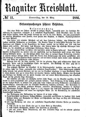 Ragniter Kreisblatt vom 18.03.1886