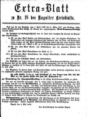 Ragniter Kreisblatt vom 06.05.1886