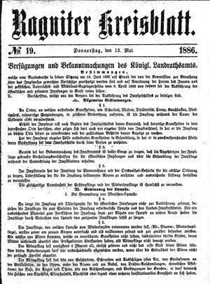 Ragniter Kreisblatt vom 13.05.1886
