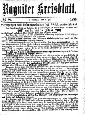 Ragniter Kreisblatt vom 01.07.1886
