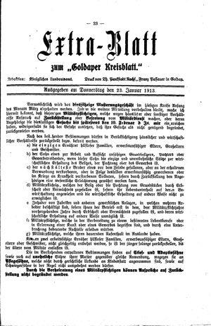 Goldaper Kreisblatt vom 23.01.1913