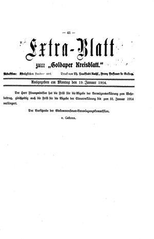Goldaper Kreisblatt vom 19.01.1914