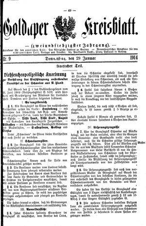 Goldaper Kreisblatt on Jan 29, 1914