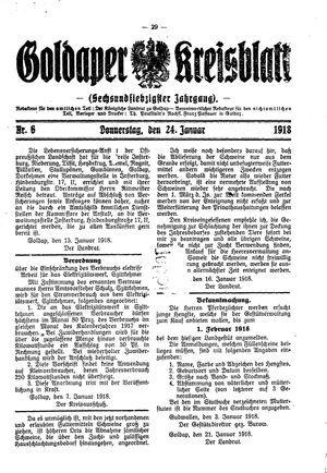 Goldaper Kreisblatt vom 24.01.1918