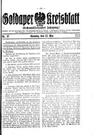 Goldaper Kreisblatt vom 12.05.1918