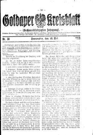 Goldaper Kreisblatt on May 16, 1918