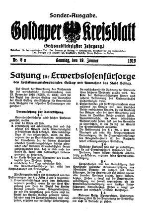 Goldaper Kreisblatt vom 19.01.1919