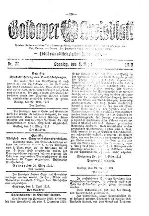 Goldaper Kreisblatt vom 06.04.1919