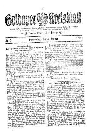 Goldaper Kreisblatt vom 08.01.1920