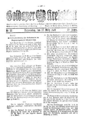 Goldaper Kreisblatt vom 17.03.1921
