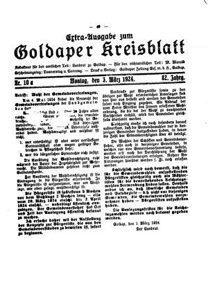 Goldaper Kreisblatt vom 03.03.1924