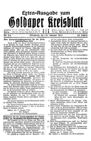 Goldaper Kreisblatt vom 21.01.1925