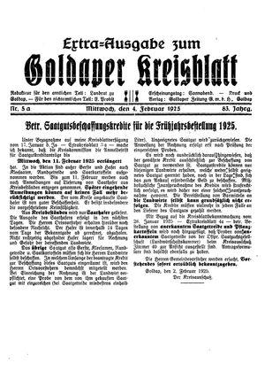 Goldaper Kreisblatt vom 04.02.1925