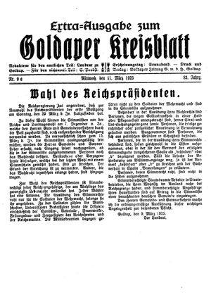 Goldaper Kreisblatt on Mar 11, 1925