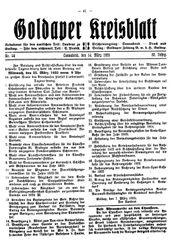 Goldaper Kreisblatt