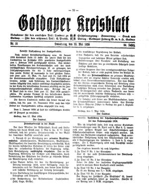Goldaper Kreisblatt on May 13, 1926