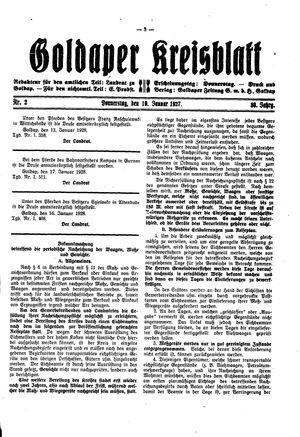 Goldaper Kreisblatt vom 19.01.1928