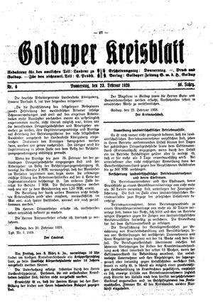 Goldaper Kreisblatt vom 23.02.1928