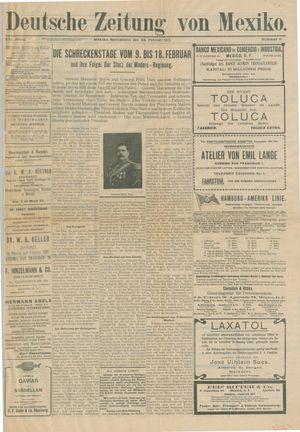 Deutsche Zeitung von Mexiko vom 22.02.1913