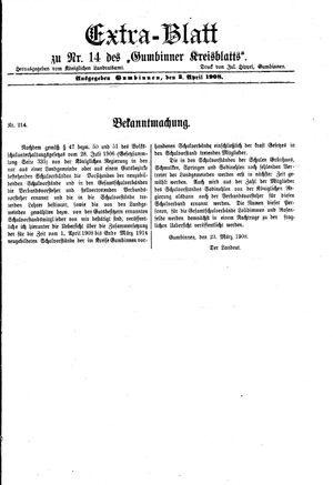 Gumbinner Kreisblatt vom 03.04.1908