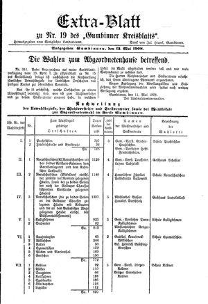 Gumbinner Kreisblatt vom 13.05.1908