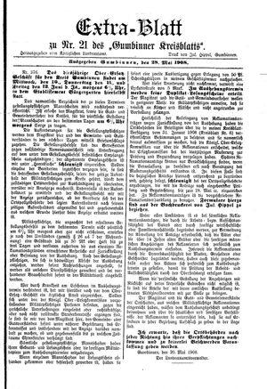Gumbinner Kreisblatt vom 28.05.1908