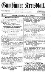 Gumbinner Kreisblatt (18.12.1909)