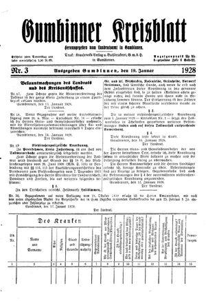 Gumbinner Kreisblatt vom 19.01.1928