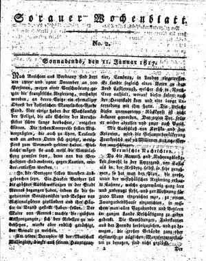 Sorauer Wochenblatt für Unterhaltung, Belehrung und Ereignisse der Gegenwart vom 11.01.1817