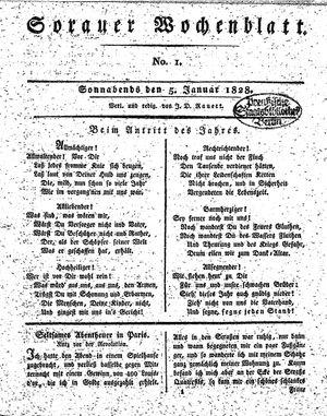 Sorauer Wochenblatt für Unterhaltung, Belehrung und Ereignisse der Gegenwart on Jan 5, 1828