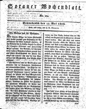 Sorauer Wochenblatt für Unterhaltung, Belehrung und Ereignisse der Gegenwart vom 17.05.1828
