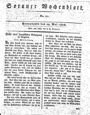 Sorauer Wochenblatt für Unterhaltung, Belehrung und Ereignisse der Gegenwart vom 24.05.1828
