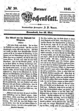 Sorauer Wochenblatt für Unterhaltung, Belehrung und Ereignisse der Gegenwart on May 17, 1845