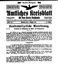 Amtliches Kreisblatt für den Kreis Koschmin