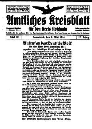 Amtliches Kreisblatt für den Kreis Koschmin vom 09.05.1914