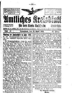 Amtliches Kreisblatt für den Kreis Koschmin vom 20.04.1918